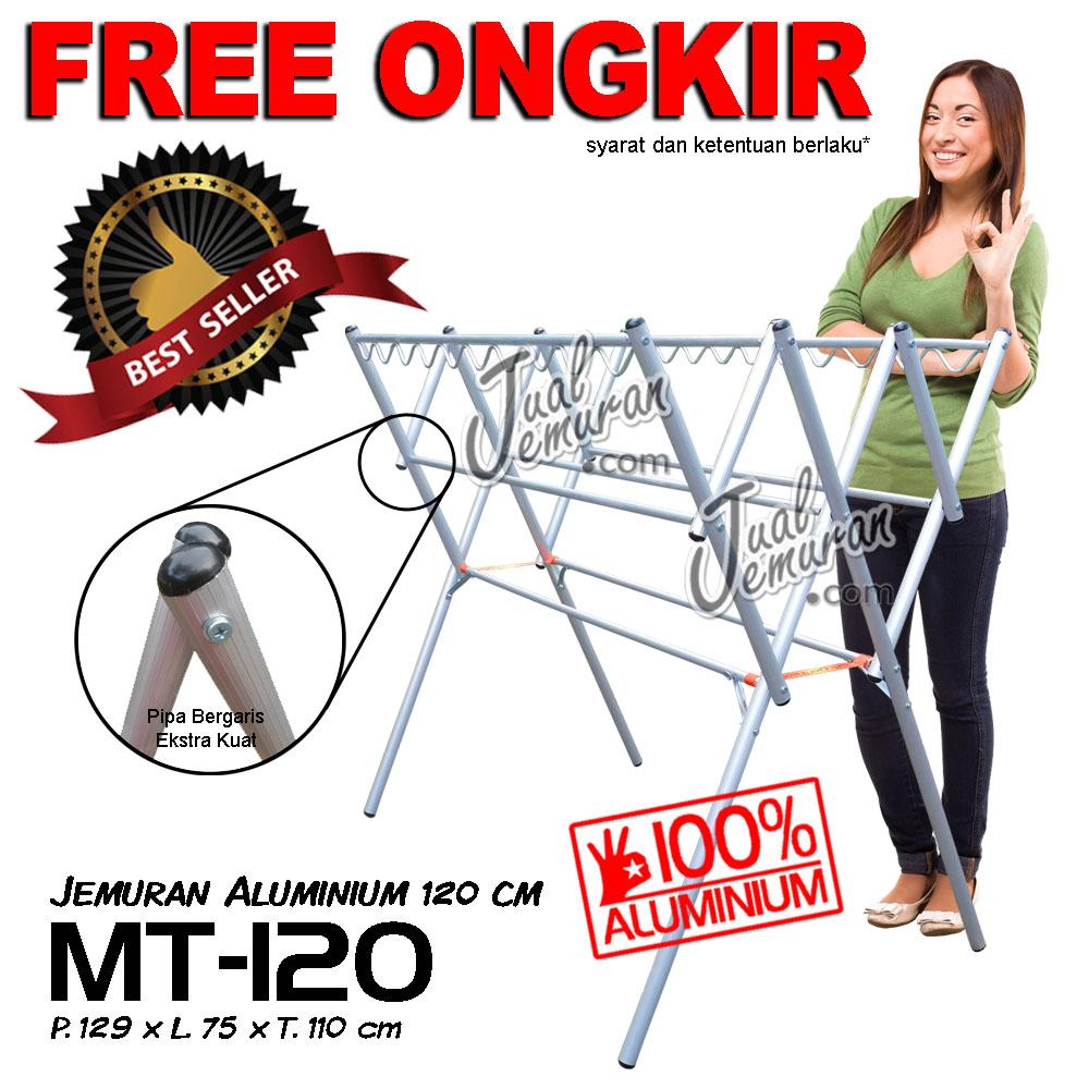 Jemuran Baju Aluminium 120 cm MT-120