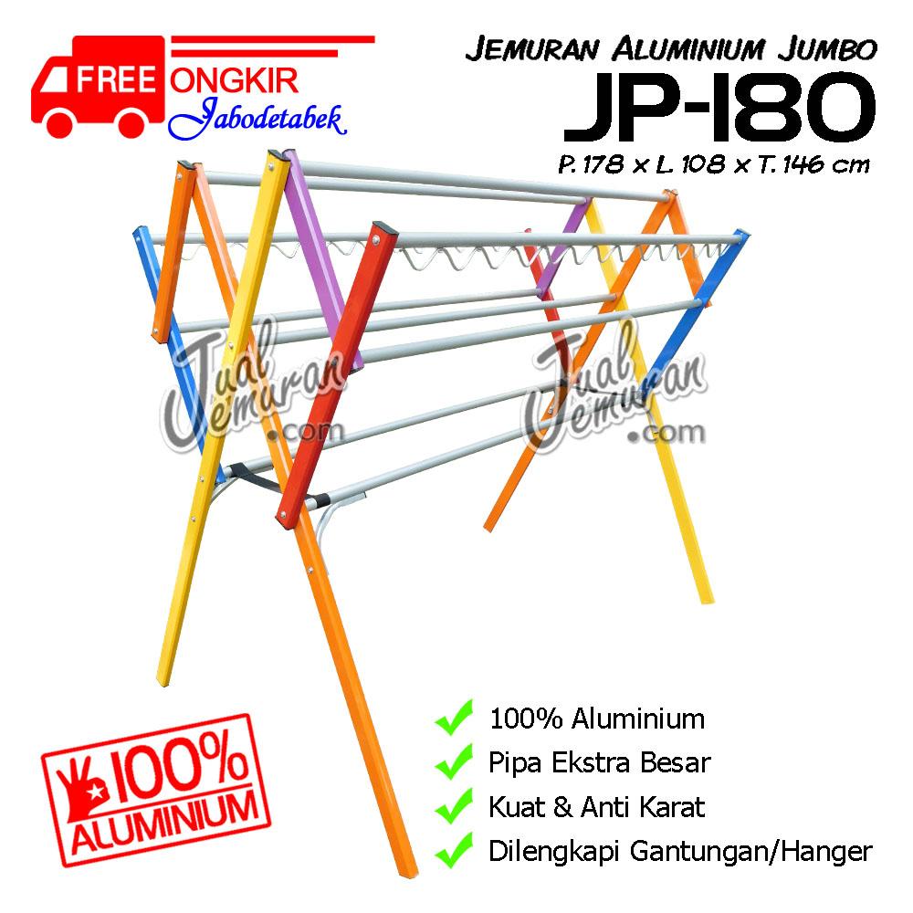 Jemuran Baju Jumbo Aluminium 180 cm