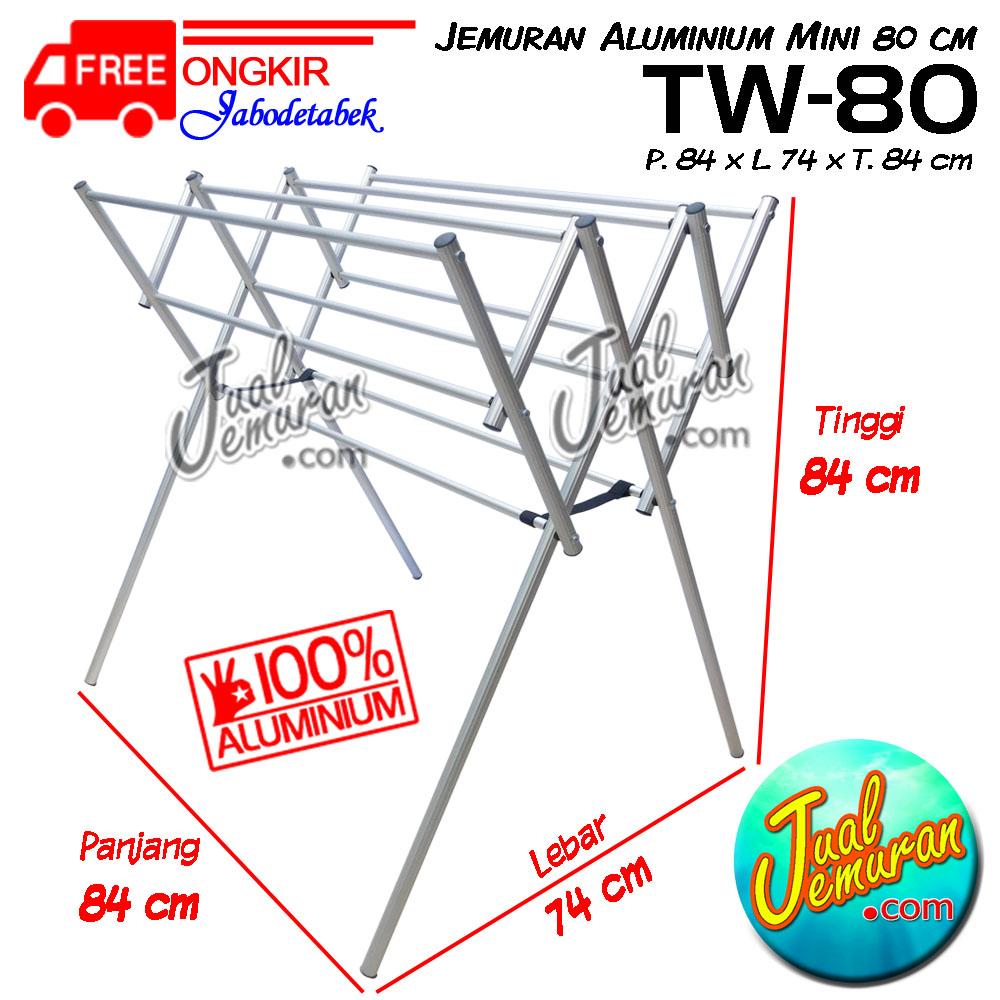 Jemuran Aluminium Mini TW-80 ukuran