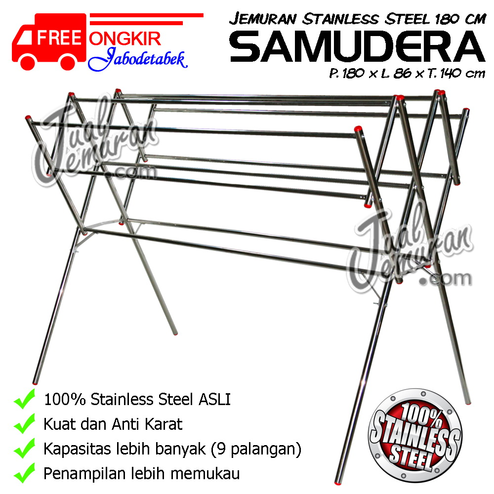 Jemuran Baju Stainless Steel 180 cm