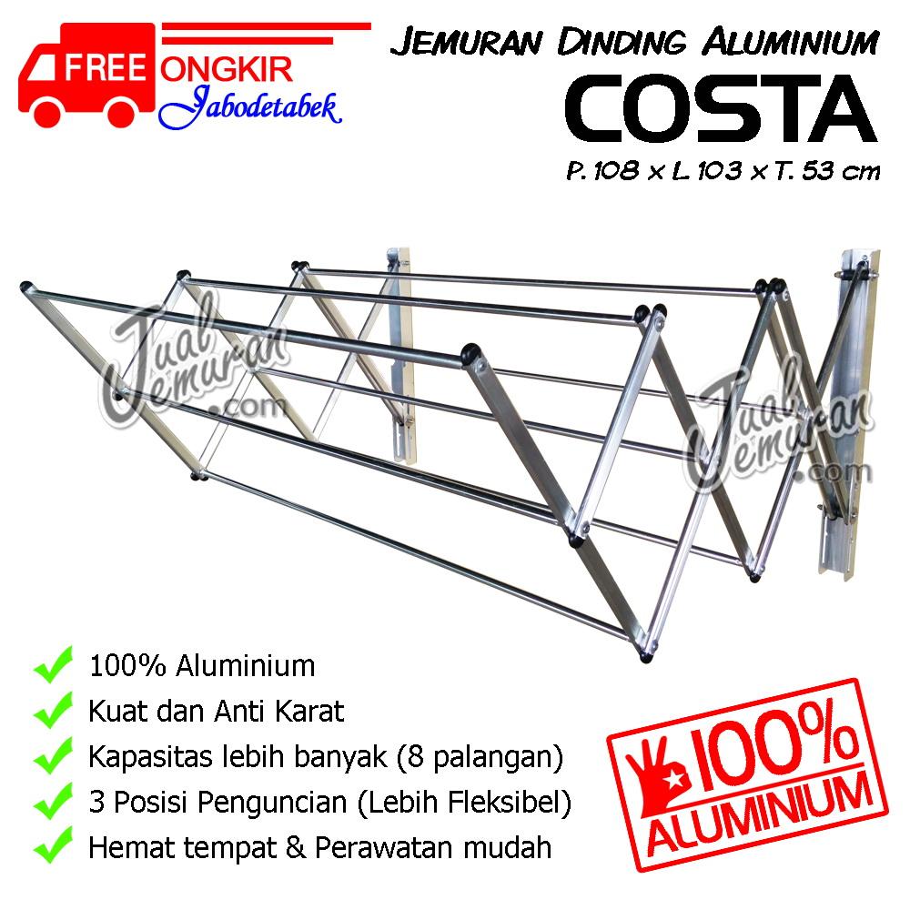 Jemuran Dinding Aluminium 100 cm