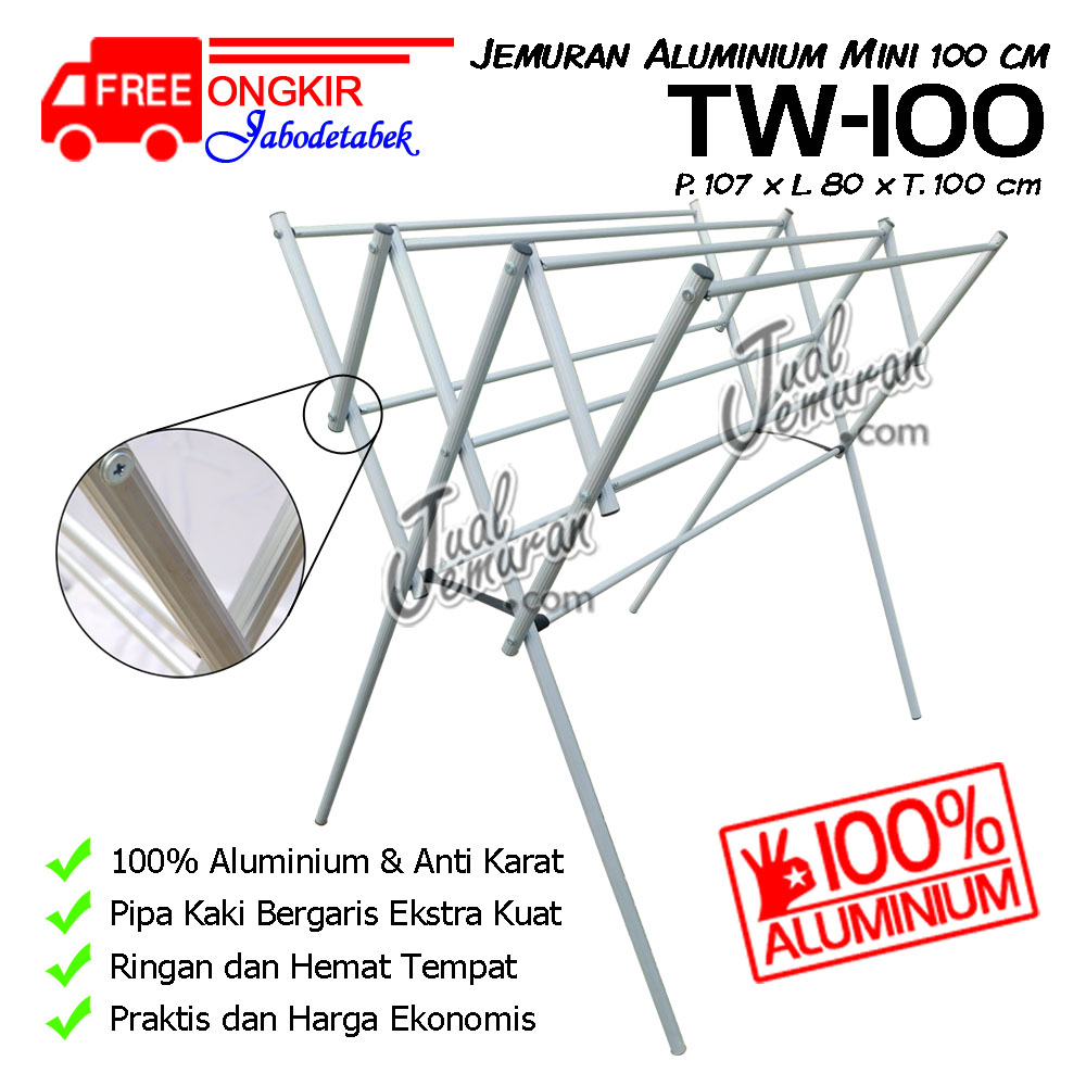 Jemuran Aluminium Mini TW-100