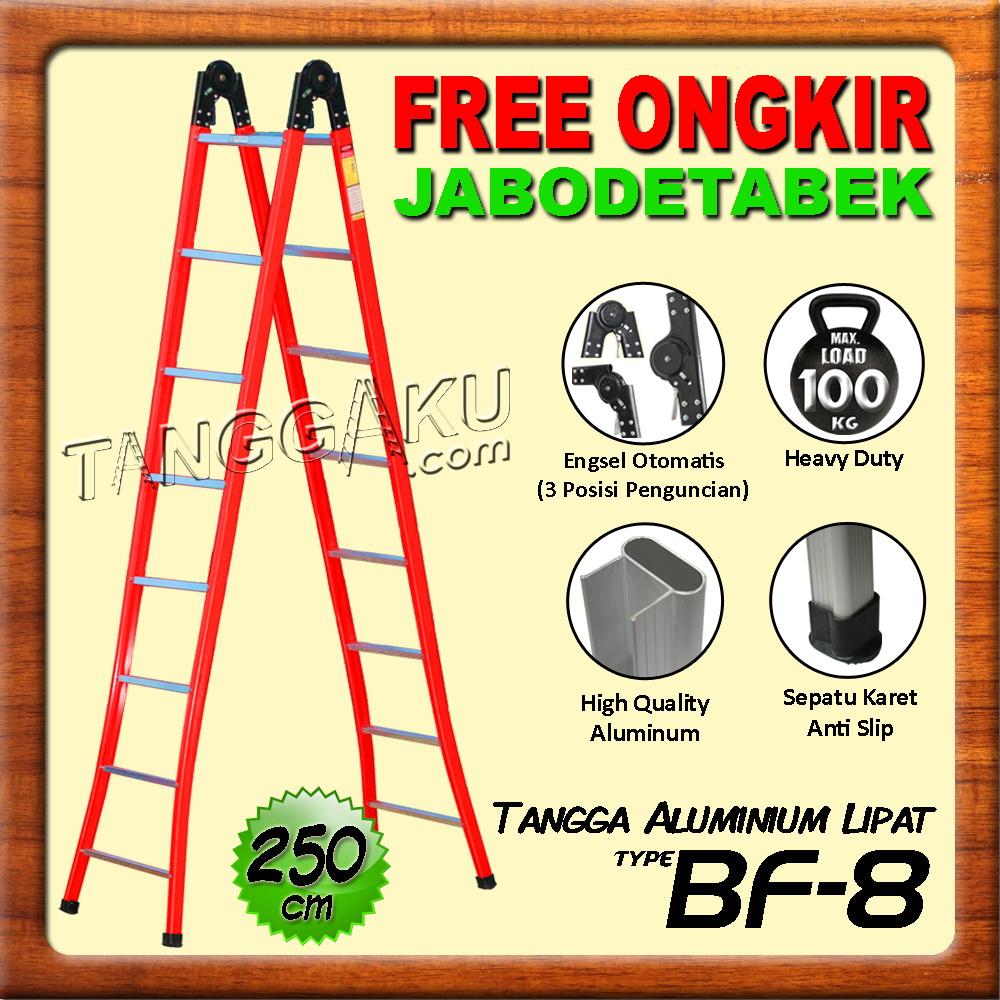 tangga aluminium lipat engsel otomatis bf-8